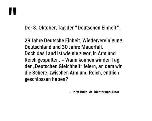 30 Jahre Mauerfall - Schere, zwischen Arm und Reich. Das Land in Arm und Reich gespalten. - Horst Bulla (0)