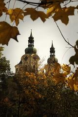 Goldener Herbst (UlvargHS) Tags: karlsbad tschechien kirche barock mariamagdalenakirche herbst golden blätter reise ausflug olympus olympusomdem10ii ulvarg affinityphoto