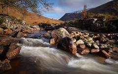 Glen Etive, Scotland(2) (S.R.Murphy) Tags: glenetive highlands landscape lochetive oct2019 scotland river water longexposure nature stuartmurphy fujifilmxt2 fujifilmxf1024mm leefilters lee06ndgrad naturephotography dalness