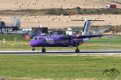 Dash 8 (Paul Beale Photography) Tags: 8 b3alie aircraft airfield airport aviation beale bombardier canon dash dhc emailpaulpaulbealephotographycom flybe gjecw jecw paul photography scotland wwwpaulbealephotographycom ©paulbealephotography