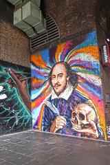 Shakespeare in London (Jainbow) Tags: london streetart shakespeare williamshakespeare art jainbow painting bankend jimmyc jamescochran