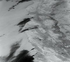 Central California and the San Francisco Bay Area, variant (sjrankin) Tags: 5november2019 edited nasa iss iss060 grayscale iss060e18683 iss060e16862 california sanfrancisco northerncalifornia coastrange centralvalley sacramento sierranevada
