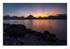 Sunset Silhouette (John Cothron) Tags: 3stopsoftedgegraduatedneutraldensityfilter 5dmarkii 5d2 5dii 5dmkii americanwest canoneos5dmkii cothronphotography distagon2128ze distagont2821ze georgiaphotographer grandtetonnationalpark interiorwest jacksonlake johncothron lee90gs leefiltersystem mountainstates mountainwest northwest thewest us usa usaphotography unitedstatesofamerica westernregion wyoming zeissdistagont2821ze clearsky cloud color lake lakeshore landscape lightrays longexposure mountain nature outdoor outside rays reflection reservoir rock scenic sky summer sun sunny sunset travel water img02008110913coweb1152019 ©johncothron2011 sunsetsilhouette