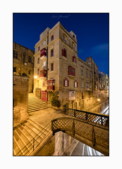 Walkways (glank27) Tags: valletta malta walkways city architecture puzzle streets roads bridge stairways blue hour light trails karl glanville canon eos 5d mkiv ef1635mm f4l charming structures haida filter cpl ngc