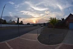 Sunset 28 10 19 (Luke6876) Tags: sunset tenterfield road sky clouds newsouthwales australia fisheye fisheyelens trees wideanglelens