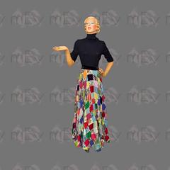 1940s 1950s Patchwork Maxi Skirt (Rickenbackerglory.) Tags: vintage 1940s 1950s patchwork maxikirt siegel mannequin