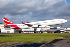 Air Mauritius - Airbus A340-312 3B-NAU @ Cardiff (Shaun Grist) Tags: 3bnau mk air mauritius airbus a340 a340312 shaungrist cwl egff cardiff cardiffairport cardiffrhoose rhoose wales airport aircraft aviation aeroplanes airline avgeek takeoff 12 retired scrapped