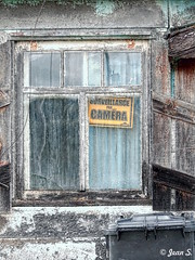 ... (Jean S..) Tags: camera house abandoned window wood garbage container rust rusty