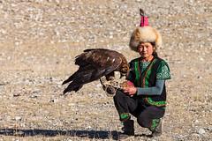 Managing her Eagle 0189 (Ursula in Aus) Tags: bayanölgii eaglehunters mongolia wtf