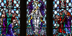 Called to the Lord's Banquet (Lawrence OP) Tags: sanfrancisco california stdominics dominican priory church neogothic stainedglass charlesconnick angel healing poor lame sick