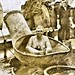 Man Bathing on a Ship Deck, World War I