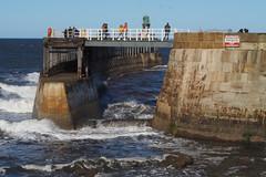 rough-seas2 (jean.nesbitt) Tags: whitby steampunk events coast yorkshire harbour sea waves lighthouse
