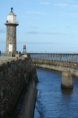 other-side-harbour (jean.nesbitt) Tags: whitby steampunk events coast yorkshire harbour sea waves lighthouse