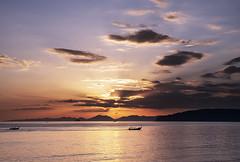 Ao Nang Sunset (Bernd Schunack) Tags: ao nang beach sunset longtail boat fantastic light rocks cliffs mountains water ocean andaman sea clouds silhouette paradise krabi sun horizon thailand panasonic lumix gx9