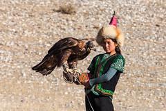 Managing her Eagle 0183 (Ursula in Aus) Tags: bayanölgii eaglehunters mongolia wtf