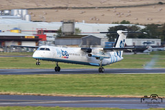 DHC-8-402 (Paul Beale Photography) Tags: 8 b3alie aberdeen aircraft airfield airliner airport aviation be beale bombardier canon dash emailpaulpaulbealephotographycom fixed fly gjeco paul photography scotland wing wwwpaulbealephotographycom ©paulbealephotography