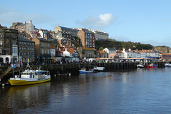whitby-harbour (jean.nesbitt) Tags: whitby steampunk events coast yorkshire harbour sea waves lighthouse boats seaside