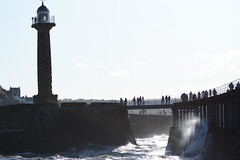 rough-seas (jean.nesbitt) Tags: whitby steampunk events coast yorkshire harbour sea waves lighthouse