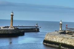 harbour-entrance (jean.nesbitt) Tags: whitby steampunk events coast yorkshire harbour sea waves lighthouse