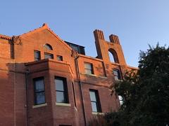 Red brick house, chimneys dated 1887, Q Street NW, Washington, D.C. (Paul McClure DC) Tags: washingtondc districtofcolumbia nov2019 historic architecture dupontcircle