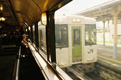 The local train passing by (しまむー) Tags: pentax mz3 smc a 28mm f28 kodak gold 200 北海道&東日本パス 普通列車 local train trip east japan