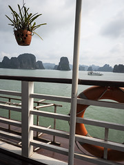 Ha Long Bay 13 (arsamie) Tags: halong bay vietnam asia water sea hills boat panorama landscape travel world sun red barrier geometry cruise