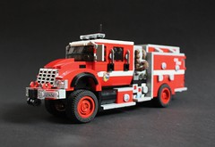 HME Type 3 4x4 Wildland Fire Engine (sponki25) Tags: ca california wildfires brushfire brush truck wildfire firefighting hme ahrens fox wildland calfire lego moc firetruck international commercial chassis pumper engine