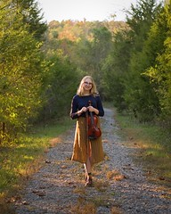 Music for the Road (lancekingphoto) Tags: seniorphoto outdoorportrait violin musician knoxvilleseniorportraitphotographer gravelroad fujifilmxt2 fujinonxf50mmf2 exposurex5