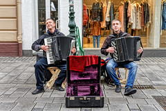 THE STREET MUSICIANS (NorbertPeter) Tags: men street people sony ilce7 portrait music outdoor city urban spontaneous düsseldorf germany streetphotography streetportrait streetmusician duo
