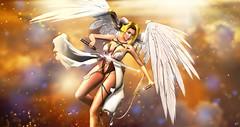 Gallea (meriluu17) Tags: belleepoque poseidon sintiklia fameshed aii egosumaii angel warrior guardian fight angelic wing wings feather katana her fantasy surreal gold golden
