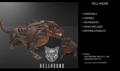 Feral - Hell Hound (Feral-sl) Tags: hell hound hellhound fantasy charakter character customizable secondlife 3dmodel