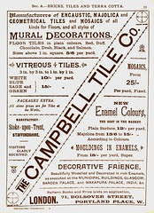 Campbell Tile Co. 1893 (growlerthecat) Tags: campbelltile tiles faience mosaic catalogue stoke tradecatalogue terracotta