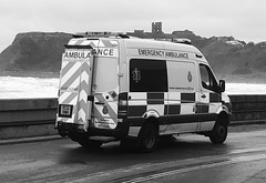 YC12 VMH (phil da greek) Tags: blackwhite northbay yorkshireambulanceservice yas ambulance uk northyorkshire scarborough
