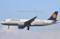 "Lufthansa D-AINB Airbus A320-271N cn/6864 sticker ""First to fly A320neo"" 03-2016 @ EDDF / FRA 02-04-2017 (Nabil Molinari Photography) Tags: lufthansa dainb airbus a320271n cn6864 sticker firsttoflya320neo 032016 eddf fra 02042017"