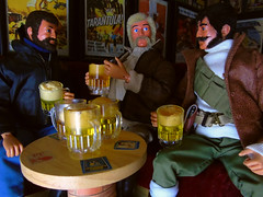 Shocking Revelation!!! (Blondeactionman) Tags: bamhq bamcomix ammo arms pub diorama playscale one six scale lord conan j roxton teegan wilberforce jj actionman adventurers action figure photography