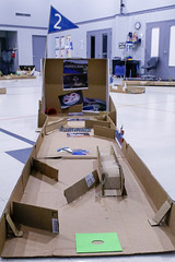 Lower School Cardboard Golf Course (The New School AR) Tags: lower school cardboard golf course putt ls national day steam curiosity
