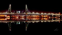 Hawthorne Bridge at Night (j.lowell.w) Tags: night bridge drawbridge hawthornebridge river reflection portland oregon cityscape citylights longexposure nikon arsenal waterways water