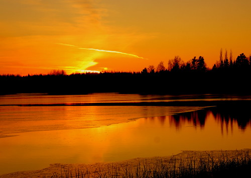 Monday evening sunset.