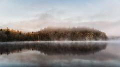foggy morning (Diana Klawitter) Tags: schweden fjällvattnet fog nebel nebelmorgen landscape landschaft see lake