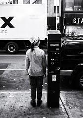 Scale (Feldore) Tags: chinatown chinese newyork candid crossing headscarf little small standing street waiting woman feldore mchugh em1 olympus 17mm 18