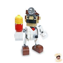 Dr. Mario (pino_creations) Tags: lego legomoc smashbros smashbrosultimate smash64 smash mario marioparty mariotennis mariobros supermario nintendo nintendoswitch drmario luigi