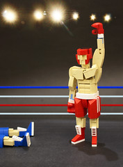 Knockout (vir-a-cocha) Tags: knockout boxing fight ring figure man lego victory viracocha