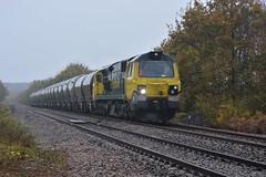 70003 Walton (davehell) Tags: class70 locohauled locomotive freighttrain freightliner wakefieldrailway crofton westyorkshirerailway oakenshaw