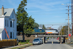Busy morning on Washington St. (Darryl Rule's Photography) Tags: 2019 buckscounty csao csx csxt conrail conrailsharedassets diesel diesels emd fall freight freightcar freighttrain freighttrains gp402 geep local morrisville nj njtransit november pa passengertrain pennsylvania railroad railroads sun sunny train trains