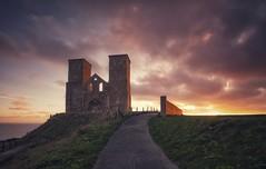 Reculvar Rise (Captain Nikon) Tags: reculvar reculvartowers monasticchurch 12thcentury historical hernebay kent southeast visitengland sunrise ruins