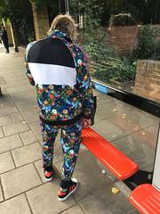 Tracksuit (SReed99342) Tags: london uk england man tracksuit floral flowers stjohnswood