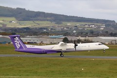 Flybe Dash8 Q400 G-JECP at Isle of Man EGNS 05/11/19 (IOM Aviation Photography) Tags: flybe dash8 q400 gjecp isle man egns 051119