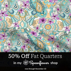 50%-discount-on-Paisley-Power-Hibiscus-Paisley-fabric (Paisley Pat) Tags: hibiscus paisley paisleypower fabric spoonflower