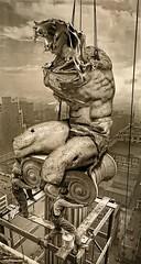 The construction of myths (Vincent Mattina (aka FLUX)) Tags: myth legend fractil fractal man statue skyscrapper sky art digital construction