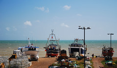 Hastings Land Based Fishing Fleet (neil mp) Tags: hastings sussex eastsussex coast walk 1066countrywalk hastingslandbasedfishingfleet fleet boats fishingboats beach shingle englishchannel sea pots lobsterpots creels gulls